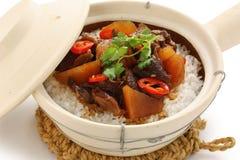 рис бака кухни глины говядины китайский Стоковые Фото