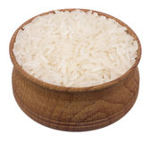 Рис в деревянном шаре Стоковые Изображения