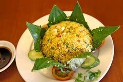 Рис в лист лотоса Стоковые Изображения RF