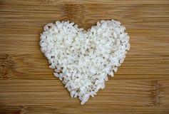 Рис в форме сердца Стоковое фото RF