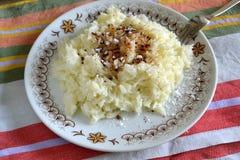 Рис еды молока Стоковое Изображение