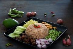 Рис затира шримса зажаренный Стоковые Фото