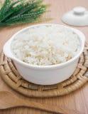 Рис испаренный белизной в шаре Стоковые Изображения