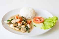 Рис и зажаренный stir гриб стоковое фото rf