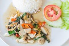 Рис и зажаренный stir гриб стоковые фото