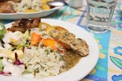 Рис и куриная грудка стоковая фотография rf