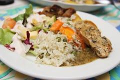 Рис и куриная грудка стоковые изображения rf