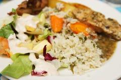 Рис и куриная грудка стоковые фото