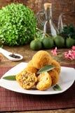 Рис и мясо Arancini Стоковые Изображения RF