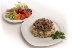 Рис и салат Стоковые Фотографии RF