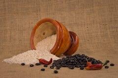 Рис и фасоли Стоковое Фото