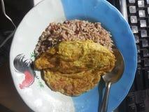 Рис и Omlet Стоковое фото RF