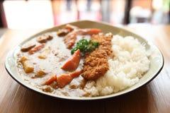 Рис карри с зажаренным свининой Стоковое Изображение RF