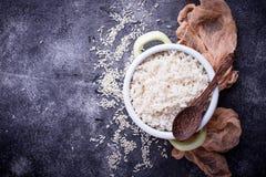 Рис кипеть белизной на баке Стоковая Фотография RF