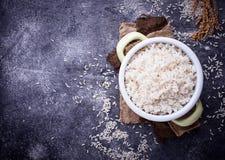 Рис кипеть белизной на баке Стоковое Фото