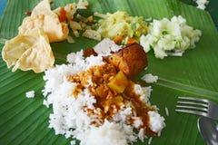 рис листьев банана стоковое изображение