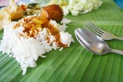 рис листьев банана стоковые фотографии rf