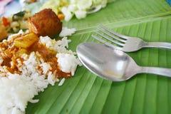 рис листьев банана стоковое фото rf