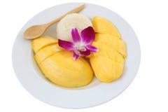 рис мангоа липкий Стоковая Фотография RF