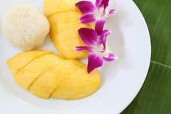 рис мангоа липкий Стоковое Изображение
