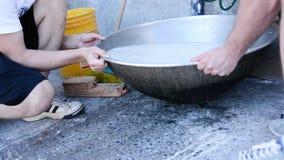 Рис мытья в воде видеоматериал