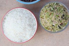 Рис на таблице Стоковое Фото