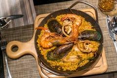 Рис паэлья морепродуктов Стоковое Изображение RF
