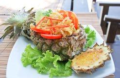 Рис печет с ананасом Стоковая Фотография