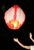 рис пожара воздушного шара запуская бумажный Стоковые Изображения RF