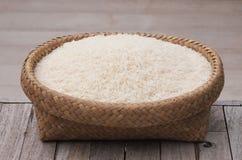 Рис плетеных корзин белый Стоковая Фотография RF