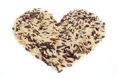 рис сердца indica смешанный Стоковое Изображение RF