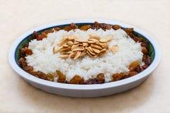Рис с изюминками и арахисами Стоковая Фотография RF
