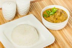 Рис с индийским карри баранины Стоковая Фотография
