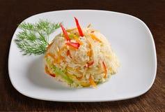 Рис с морковами и перцем Стоковое Изображение RF