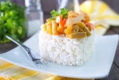 Рис с овощами стоковые фотографии rf