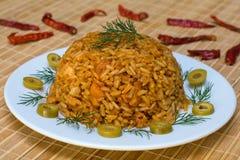 Рис с цыпленком стоковая фотография