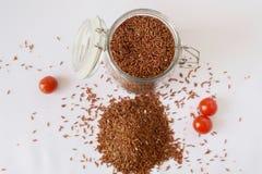 Рис, томаты вишни Стоковая Фотография