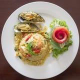 Рис увольнянный морепродуктами Стоковые Фотографии RF