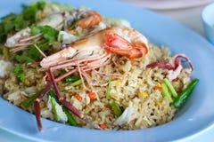 Рис фрая морепродуктов Стоковые Изображения