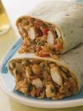 рис цыпленка сыра burrito стоковое изображение rf