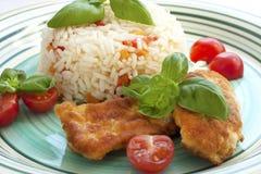 рис цыпленка зажаренный Стоковое Изображение