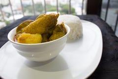 Рис цыпленка карри Стоковое фото RF