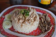 рис цыпленка hainanese Стоковое Изображение