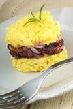 Рис шафрана сердца форменный с цикорием trevisano Стоковые Изображения RF