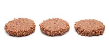 Рис шоколада хрустящий и торт карамельки Стоковое фото RF