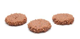 Рис шоколада хрустящий и торт карамельки Стоковое Фото