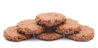 Рис шоколада хрустящий и торт карамельки Стоковые Изображения RF