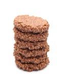 Рис шоколада хрустящий и торт карамельки Стоковая Фотография