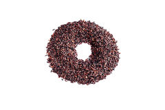 Рис ягоды риса органический на белой предпосылке Стоковые Изображения