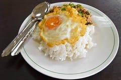 рис яичка зажаренный Стоковое фото RF